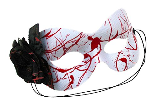 Black Dahlia Hand-Painted Women's Masquerade Mask