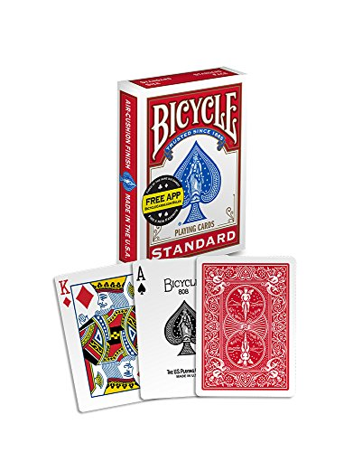 Bicycle Poker Size Standard Index Playing Cards [Colors May Vary: Red, Blue or (Cycling Card)
