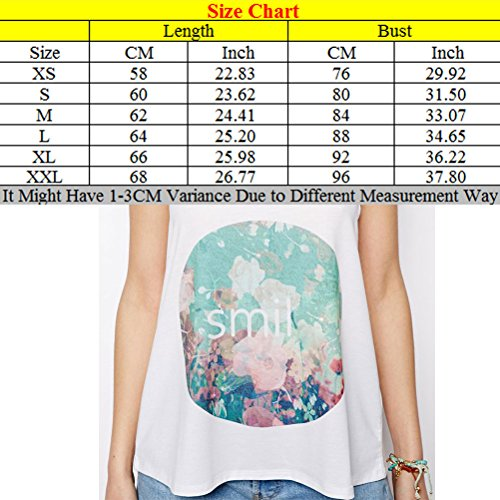 Zhhlinyuan Casual Ropa Popular Womens Beautiful Back Harness Pastoral Printing of Small Fresh European and American Women Vest White