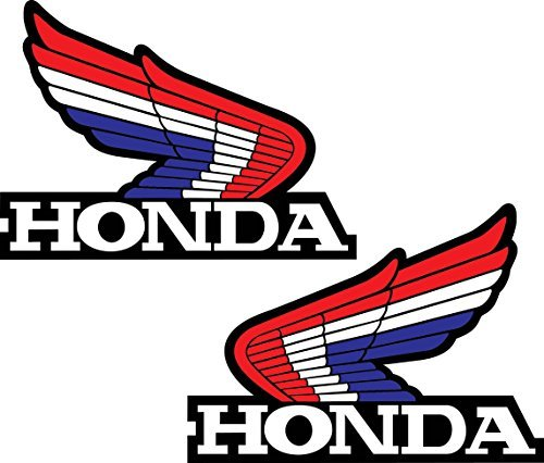 "Honda Wings Set of 2 Left & Right Retro Vintage Vinyl Sticker Decal 4""x5"" each"
