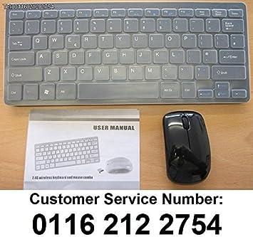 Negro Teclado inalámbrico Thin + Panel numérico y ratón para Samsung Smart TV UN32EH5300 F: Amazon.es: Electrónica
