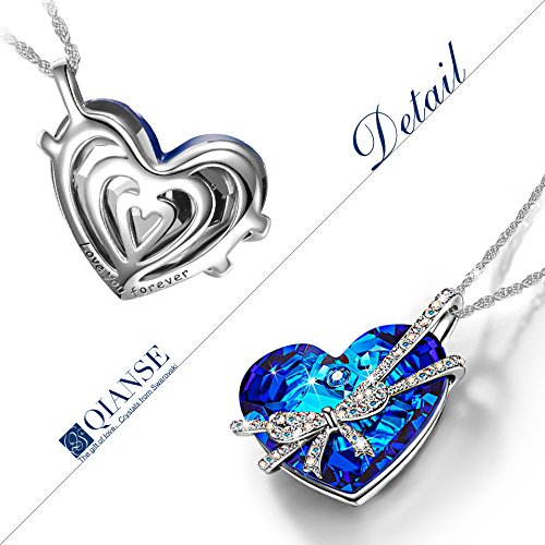 Swarovski Crystal women heart Jewelry