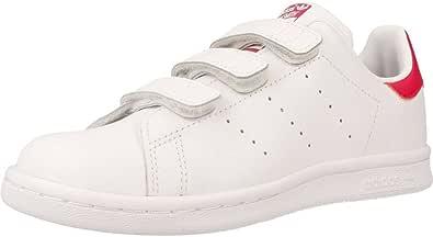 adidas Unisex Kids' Stan Smith Cf C Gymnastics Shoes, White (FTWR White/FTWR White/Bold Pink FTWR White/FTWR White/Bold Pink), 13.5 UK