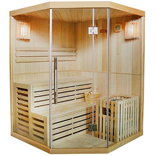 Traditionelle Saunakabine / Finnische Sauna Espoo 150 x 150 cm 6 kW
