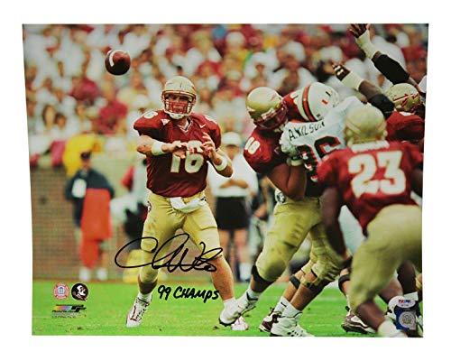 - Chris Weinke Autographed Signed 16x20 Photo Florida State Seminoles 99 Champs Threading Needle - PSA/DNA Certified