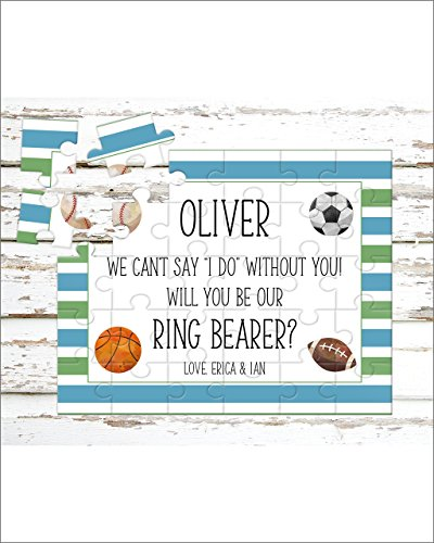 Personalized Ring Bearer Puzzle - Puzzle Proposal - Asking Ring Bearer- Wedding Announcement - P0058