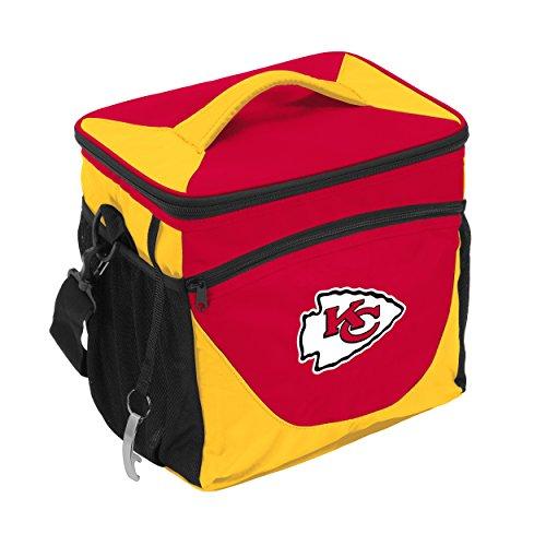 Logo Brands NFL Kansas City Chiefs 24 Can Cooler, One Size, Black