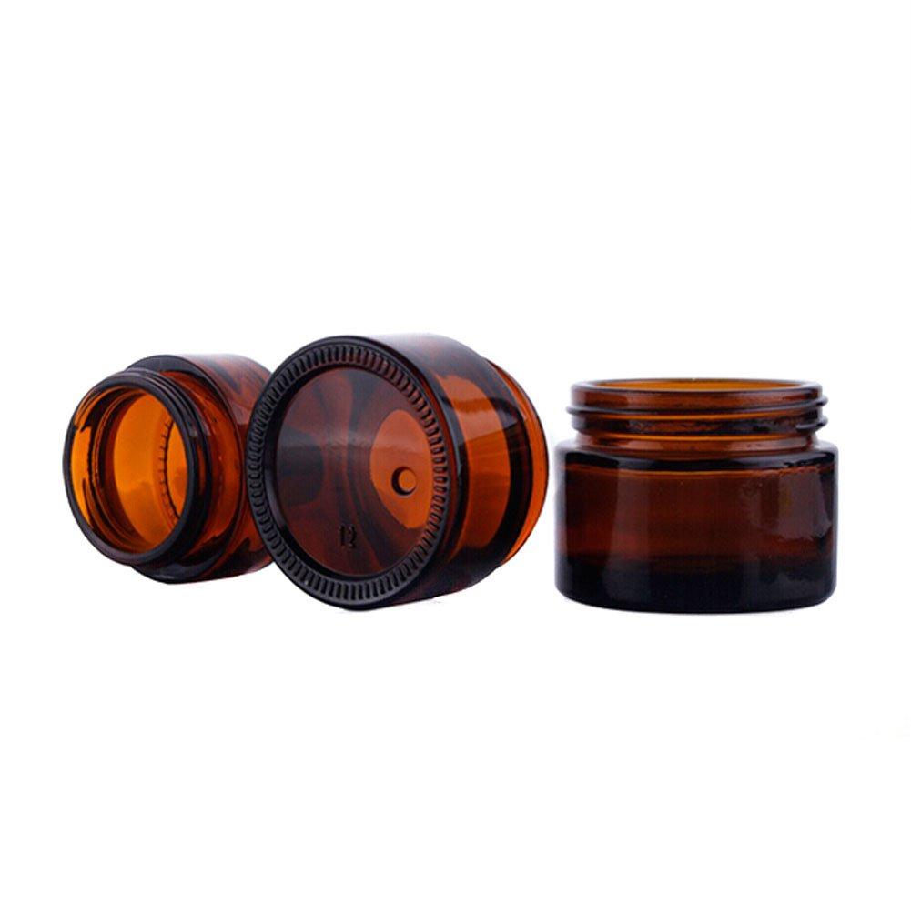 AMOYER 10pcs 20 gram Amber vac/ío envases cosm/éticos tarros de Cristal de Ejemplo