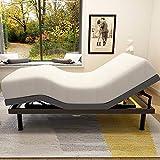 Adjustable Bed Base Frame Smart Electric Beds Foundation (Full, Gray)