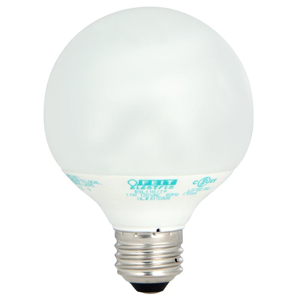Feit Electric Tuff Kote 11 Watt, G25 CFL Globe
