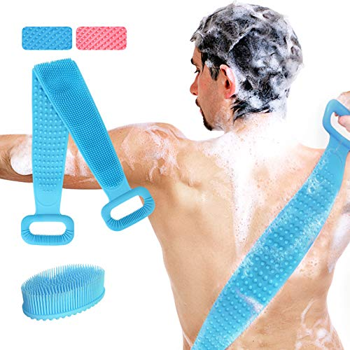 Silicone Back Scrubber and Exfoliating Body Brush Set, 30