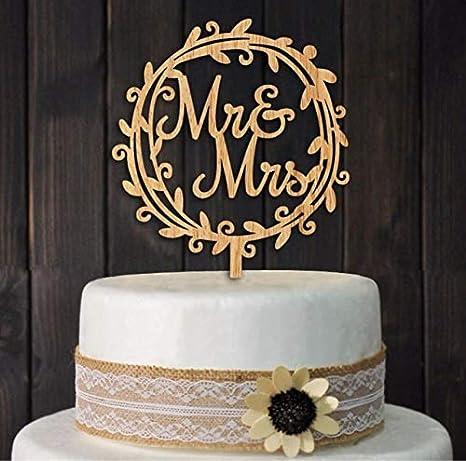 Amazon.com: Giga Gud Mr Mrs - Decoración para tartas de ...