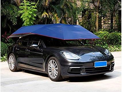 Amazon Com Portable Carport Semi Automatic Umbrella Car Sun Shade