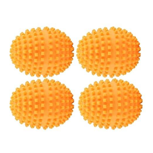 Lavado de lavander/ía Secado de la Bola for el hogar Ropa de Limpieza. Set Orange Reutilizables Bolas del secador KSTE Secador de Bolas 4pcs