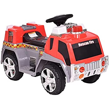 Ride on toy fire truck for kids battery for Motorized ride on toys for 5 year olds