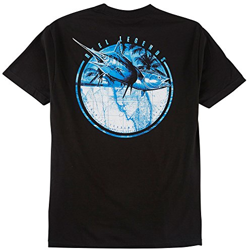 Reel Legends Mens Marlin & Tuna T-Shirt Large New ()
