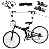 Safstar Bike Lift Ceiling Rack Bicycle Mount Hoist Storage Garage Hanger Pulley