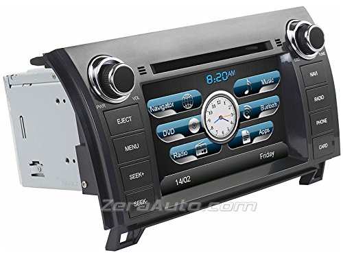 2007-2013 Toyota Tundra 2008-2014 Sequoia In-Dash Navigation Stereo GPS DVD CD MP3 AVI USB SD Radio Bluetooth Hands-free Steering Wheel Controls 7
