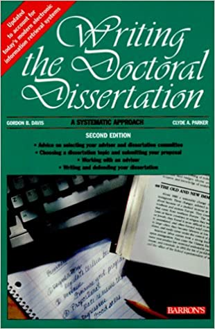 writing the doctoral dissertation by gordon b. davis Faith theological seminary professors: and begin to write the dissertation areas covered include topic viability gordon b davis, clyde a parker, detmar w straub writing the doctoral dissertation: a systematic approach.