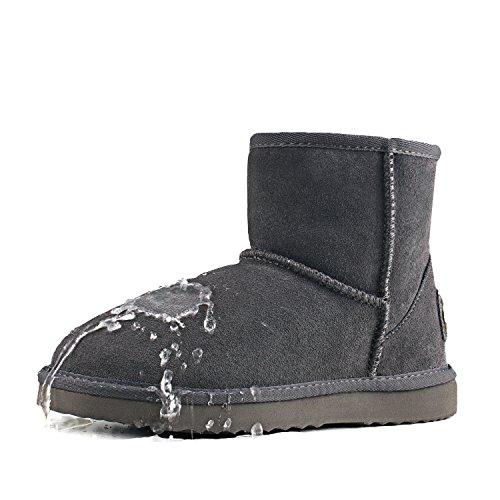 Baja Invierno Gris Antideslizante D5154 clásicos de Impermeable Zapatos Mujer Botas Shenduo Nieve de caña de para Piel 1qZHvc5waW