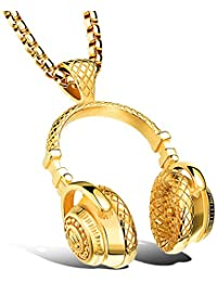 Headphone Pendant Music Jewelry DJ Necklace