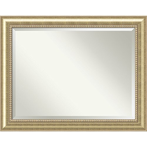 Amanti Art Wall Mirror Astoria Champagne: Outer Size 47 x 37