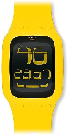 Swatch Swatch Touch Yellow SURJ101 - Reloj digital de cuarzo unisex, correa de plástico color