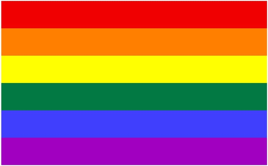 "Bargain Max Decals - LGBT Rainbow Gay Pride Flag - Sticker Decal Notebook Car Laptop 4"" x 5"" (Color)"