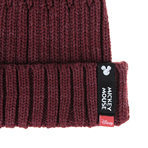 WITHMOONS Ribbed Hat Mouse Patch Vino Mickey de Gorros CR5479 Punto Beanie Knit Disney 0Bwr0gq