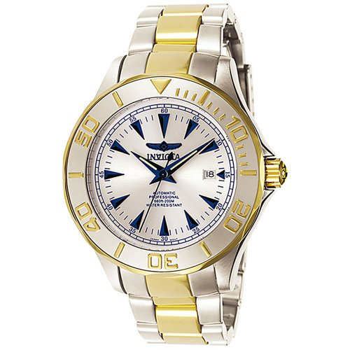 Invicta Men's Signature Automatic 3 White Dial Stainless Steel Band Watch - 7036