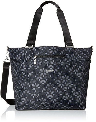 Baggallini Avenue Tote Bag - Lightweight, Water Resistant, Carry-On Travel Purse With Zippered Pockets and Laptop Sleeve