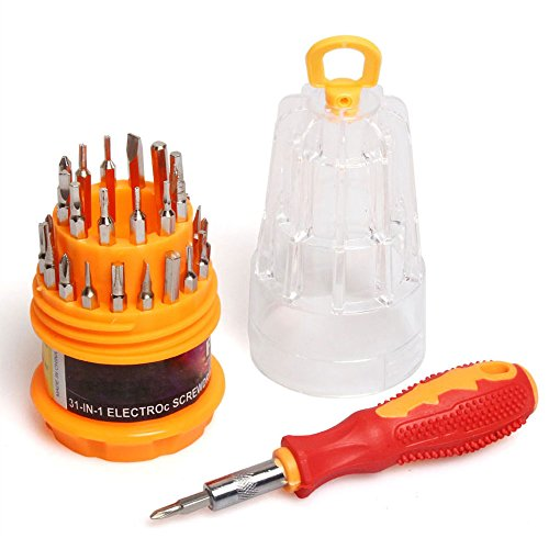DayCount 31 in 1 Multi-function Screwdriver Combination for Precision Small Screws - Hinge Eyeglass Parts Repair