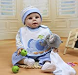 22'' Silicone Lifelike Reborn New Baby Boy Alive Realistic Boy Doll Kits Women Treats Nursery Collect Girl Gifts