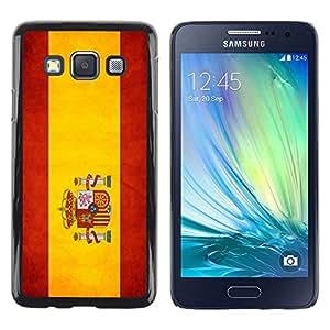 Be Good Phone Accessory // Dura Cáscara cubierta Protectora Caso Carcasa Funda de Protección para Samsung Galaxy A3 SM-A300 // National Flag Nation Country Spain
