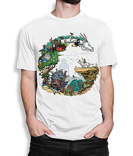Studio Ghibli Anime Art T-Shirt, Men's Women's (XXL - Male)
