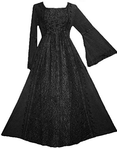 Galleon 007 Dr Womens Lace Wedding Renaissance Dress 2x Black