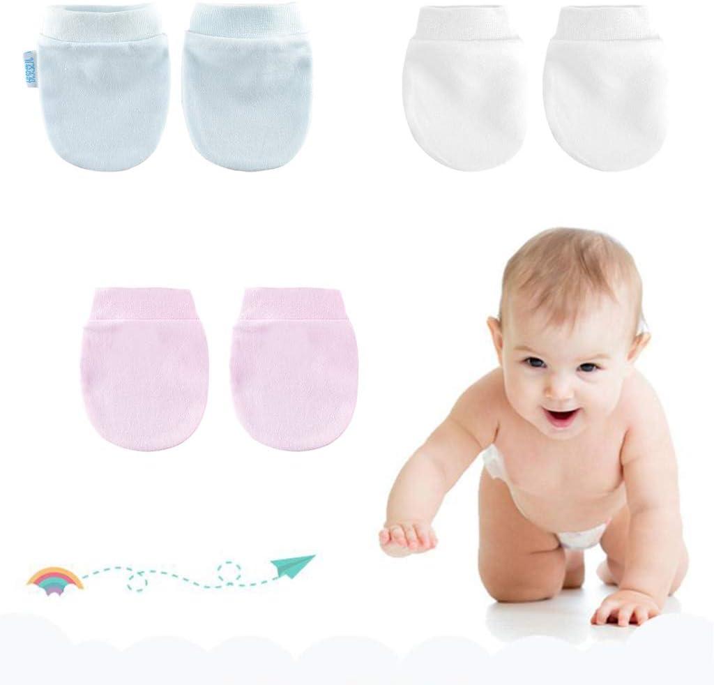 MB-LANHUA 4 Paar//Set Babyhandschuhe Einfache s/ü/ße Baby-Strickhandschuhe Neugeborene Anti-ESS-Hand Anti-Grab-Handschuhe Wei/ß