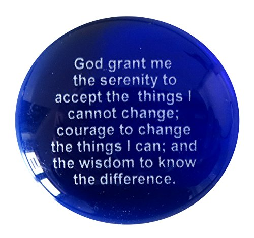 The Serenity Prayer Glass Stones, Set of 24