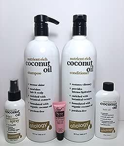 Amazon.com : Oliology Coconut Oil Shampoo 32 oz ...