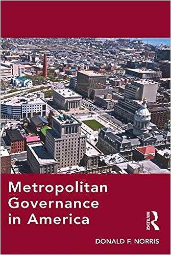 Download electronic textbooks Metropolitan Governance in America på dansk RTF B01CR6BWI8