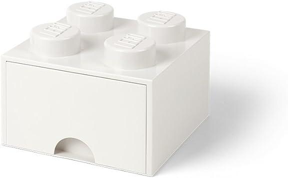 LEGO 40051735 Ladrillo 4 pomos, 1 cajón, Caja de almacenaje ...