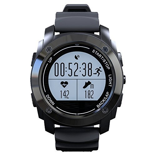 RUNACC Smart Sports Watch Heart Rate Monitor with GPS Function, Ideal for Outdoor Sports, Daily Waterproof, Support Android and iOS by RUNACC