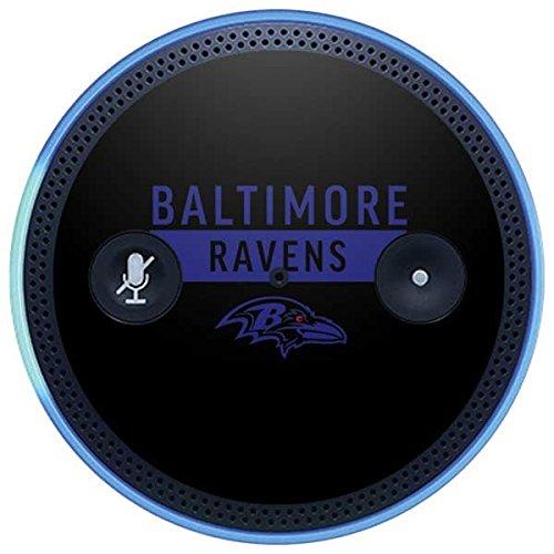 Skinit NFL Baltimore Ravens Amazon Echo Plus Skin - Baltimore Ravens Black Performance Series Design - Ultra Thin, Lightweight Vinyl Decal Protection