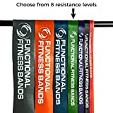 Functional Fitness 41 inch Continuous Loop Crossfit Pull up Band - Choose from 7 sizes, Resistance from 5-200 lb. For Assisted Pull Ups Calisthenics CrossFit Powerlifting Physical Therapy Pilates Stretching Full-Body Functional Fitness Workouts