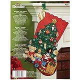 Bucilla 86303 - Juego Apliques de Fieltro para calcetín de Navidad (45.7 cm) Under The Tree