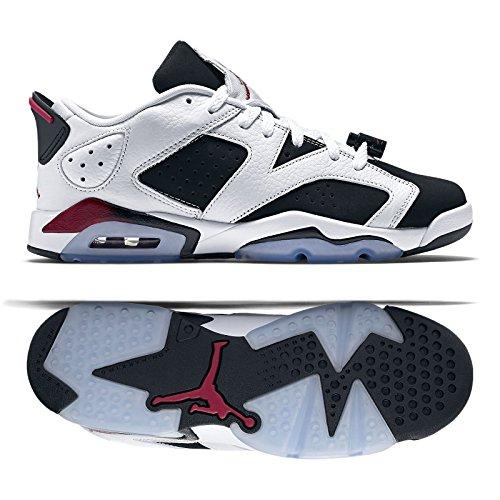 Nike Air Jordan 6 Retro Low GG, Youth Basketball Shoes, WHITE / SPORT FUCHSIA - BLACK, 6Y M US (Air Jordan Vi Retro compare prices)