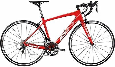Bicicleta BH cuarzo 105 rojo blanco, tamaño L: Amazon.es ...