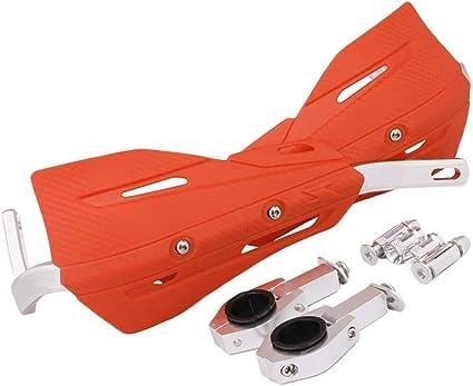JFGRACING Orange Universal 22mm et 28mm Garde-Mains en Aluminium pour Motocross Dirt Bike KTM EXC EXCF SX SXF MX MX XC XC XCF XCFW EGS Enduro