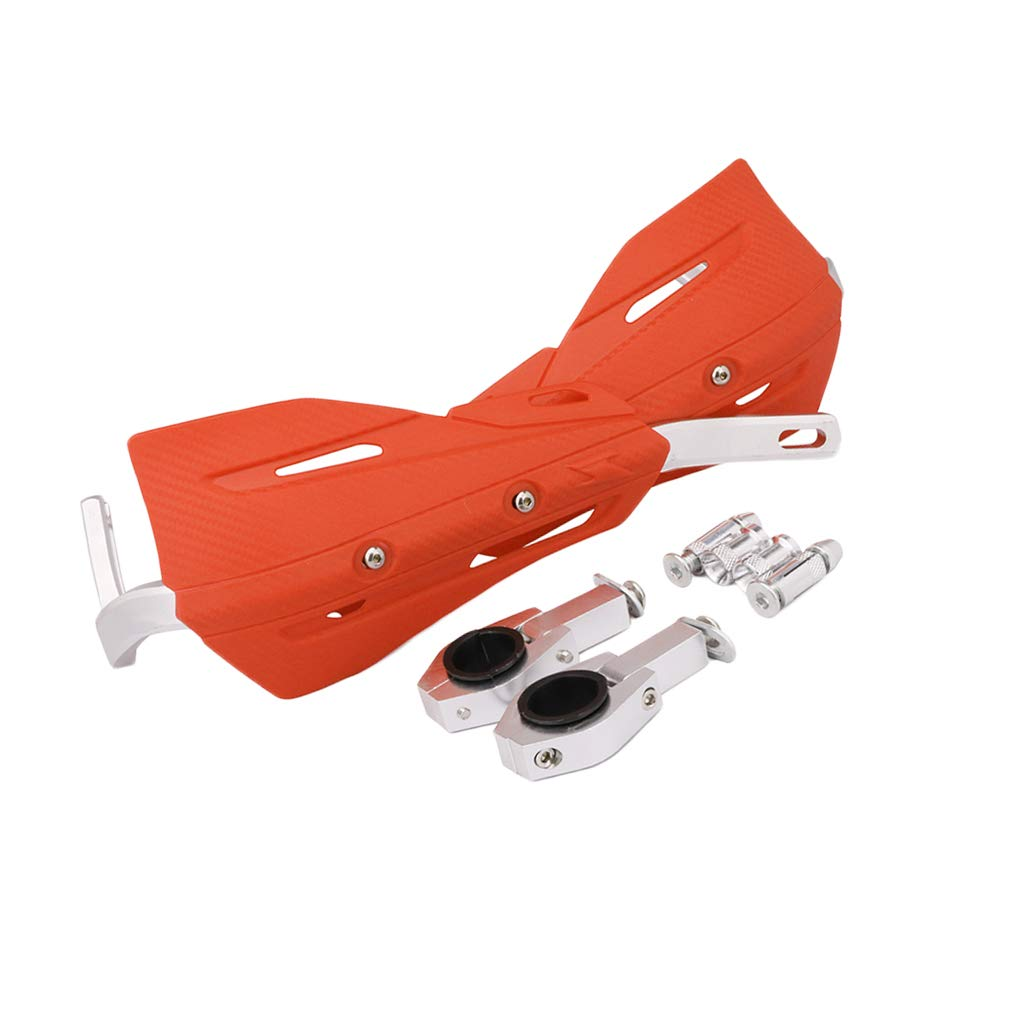 Blanc H HILABEE 2pcs Prot/ège-Mains de Moto avec Coupe-Vent Amovible Protecteur du Guidon pour KTM ATV SX SXF XCW XCFW 125 250 300