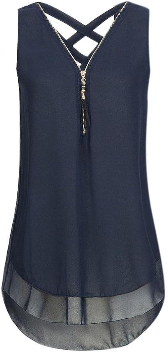 Ärmellos Tanktops Boho Blumen T-Shirt Bluse Damen M ~ 2XL Frauen Sommer
